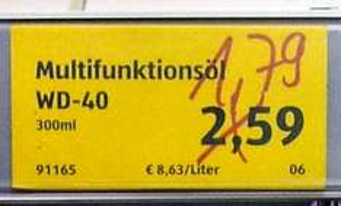 Multifunktionsöl WD-40 @ ADLI Köln Severinstraße 33