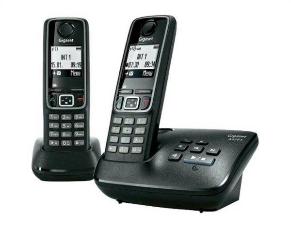 @ Meinpaket  Gigaset A420 A Duo Schnurlostelefon mit Anrufbeantworter schwarz B-Ware
