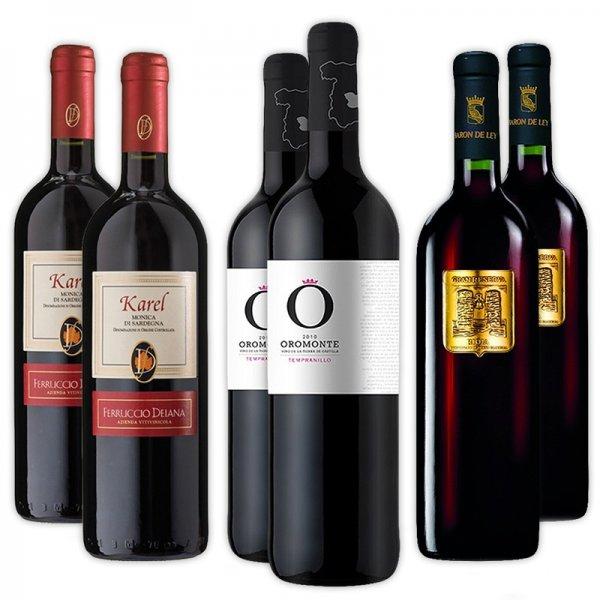 [Delinero] Wein-Paket 6 Flaschen für 19,89€