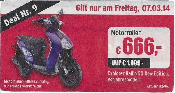 [ATU] Roller Explorer Kallio K50 New Edition blue am 7.3.14 für 666€ statt 799,99€ bei A.T.U