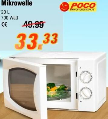 [Poco] Mikrowelle 20l 700W für 33,33€