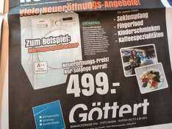 (Lokal Siegen) Elektro Göttert Neueröffnung Siemens WT44W2ECO Wärmepumpentrockner