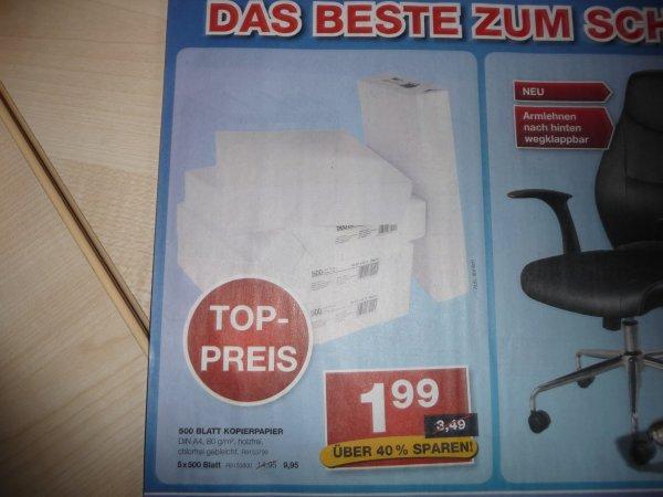 (offline) Staples 500 Blatt Kopierpapier 1,99€ (online) Staples 15€ Gutschein MBW 75€ wieder aktiv