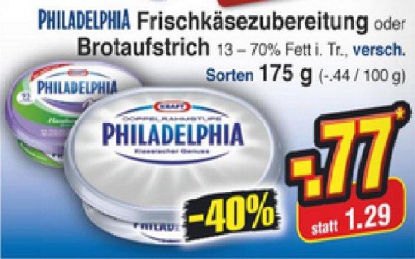 Netto ohne Hund (Bundesweit)  Philadelphia Frischkäse 0,77€