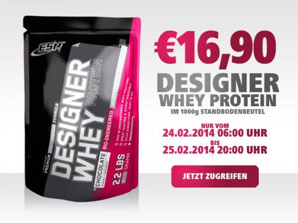 ESN Designer Whey 1000g für nur 21,40€