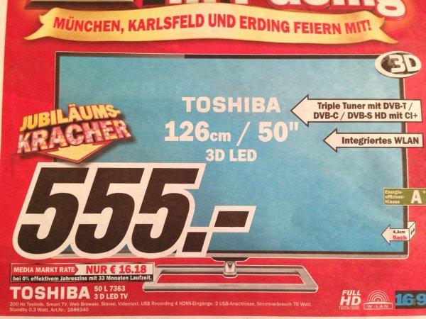 "[Umkreis MUC] Toshiba 50"" LED 3D Smart-TV 50L7363 für 555,-"