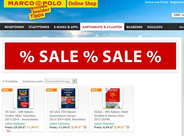 [Online] Verschiedene Atlanten für alle Nicht-Navi-Besitzer oder alle, die etwas handfestes wollen im Sale bis 60%