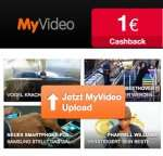 Video Upload bei MyVideo über qipu.de: 1€ Cashback