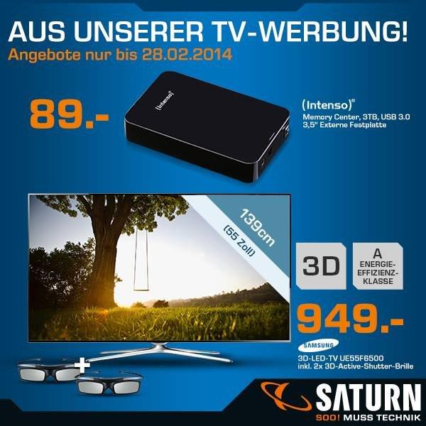 Saturn // 3,5 Zoll externe Festplatte Intenso Memory Center 3 TB