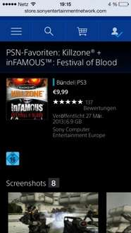 Killzone Classic  HD + Infamous: Festival of Blood (Standalone) im PSN-Store für 9,99€