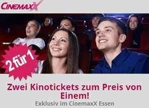 [Lokal Essen] CinemaxX: 2 für 1 Kinotickets für alle!