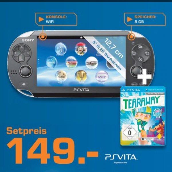 PS Vita inkl. 8GB Speicherkarte + Tearaway Saturn Online und im Laden (Update: Amazon zieht nach)