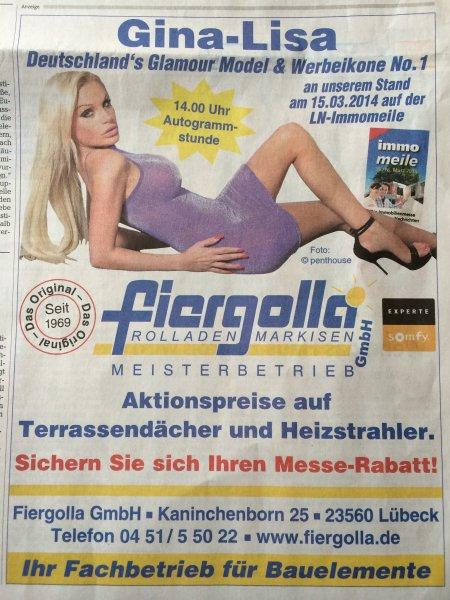 [Lokal] Autogramm von Deutschlands Glamour-Model & Werbeikone No. 1