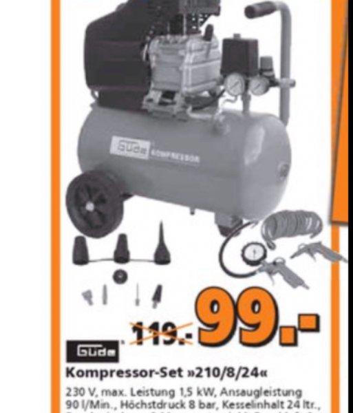 Güde Kompressor-Set 210/08/24