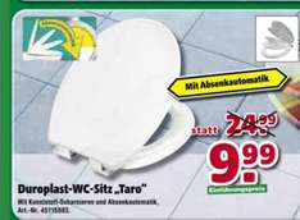 Lokal München - WC-Sitz mit Absenkautomatik 9,99 €