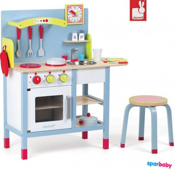 Spielküche aus Holz mit viel Zubehör von Janod für 75,60 bei Amazon.de