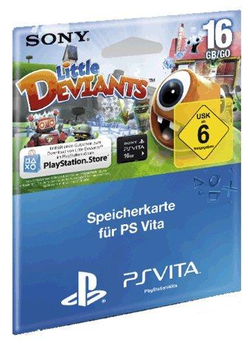 Speicherkarte Sony PS Vita (16 GB) Memory Card inklusive Little Deviants (Passendes zubehör zu den aktuellen PS Vita Deals)