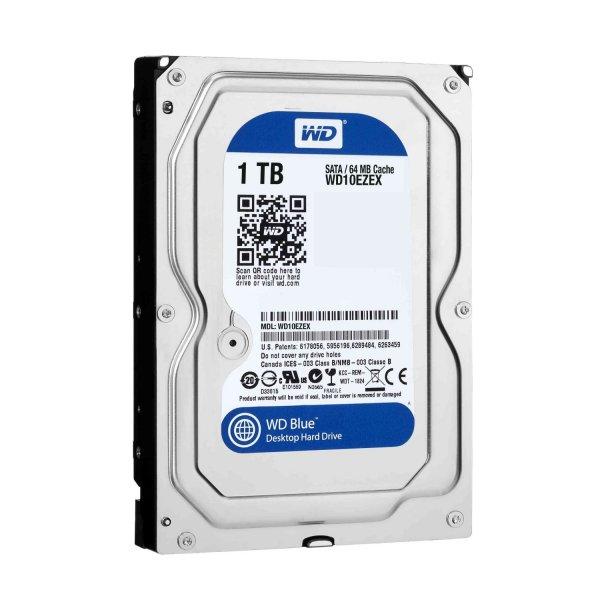 WD Blue 1TB, 64MB, SATA 6Gb/s (WD10EZEX) Festplatte für 44,70 € bei Jacob Electronic