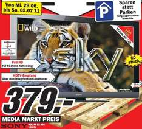 """Media Markt Aalen: Sony KDL-40BX402 (40"""" LCD) für 379€, LG 32LE4500 (32"""" LED) für 299€ und andere gute Preise!"""