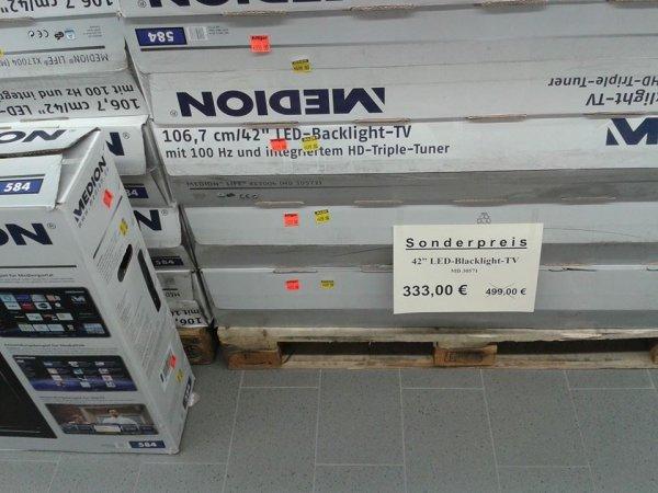 "Medion LIFE X17017 (MD 30580) 106,7 CM (42"") LED-BACKLIGHT-TV [Aldi Kiel Suchsdorf] Neueröffnung"