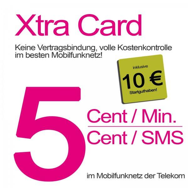 Telekom Xtra Card 10€ Guthaben für 1€ auf Ebay