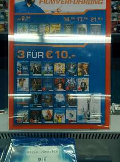 [Saturn Bergisch Gladbach] 3 Bluray Filme für 10€  (z.B Memento, Donnie Darko, Hooligans)