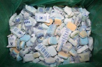 """(Amazon)Spülmaschinentabs """"Ausschussware"""", Karton mit ca. 10kg Ausschusstabs für Sparfüchse"""