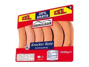 [LIDL] 1,2 Kg Bockwurst für 4,59 Euro