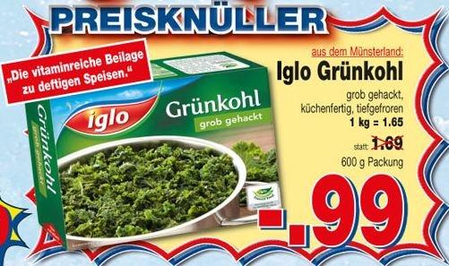 [Kaufpark] : Iglo Grünkohl für 0,99 €