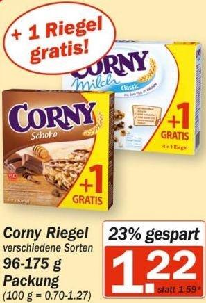 [Hit] Corny Riegel versch. Sorten für 1,22 €