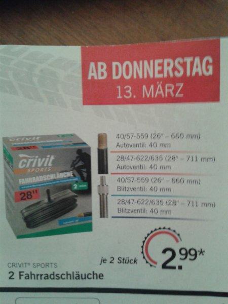 2x Crivit Fahrradschläuche nur 2,99 Euro @LIDL
