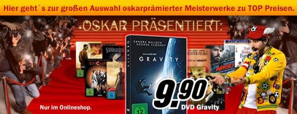 Media Markt Oskarnacht - Gravity auf DVD für 9,90 EUR