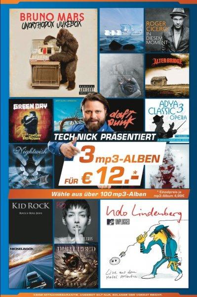 Saturn - 3 MP3 Alben für 12€