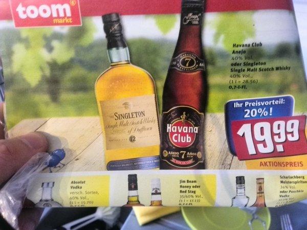Whisky - The Singleton of Dufftown 12 Jahre zum absoluten Discountpreis - TOOM Bundesweit