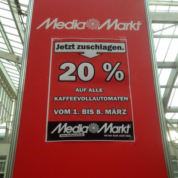 media markt frankfurt 20% auf kaffeevollautomaten