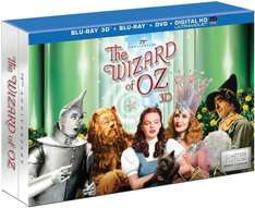 The Wizard of Oz 3D - 75th Anniversary Collector's Edition (Blu-ray 3D + Blu-ray + DVD + UV Copy) für 45€ @Amazon.com