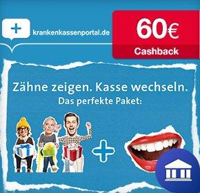 [KRANKENKASSENPORTAL] 60 Euro Cashback über QIPU + Sachprämie