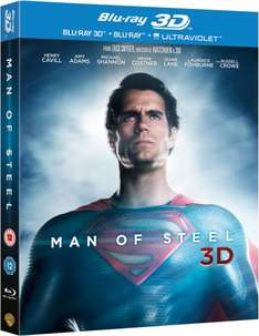 Blu-ray 3D - Man of Steel (2D & 3D & Digitalcopy auf 2 Discs) für €15,76 [@Zavvi.com]