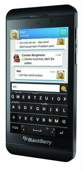 BlackBerry Z10 Smartphone (4,2 Zoll, 8 Megapixel, 16 GB, 4G LTE) schwarz