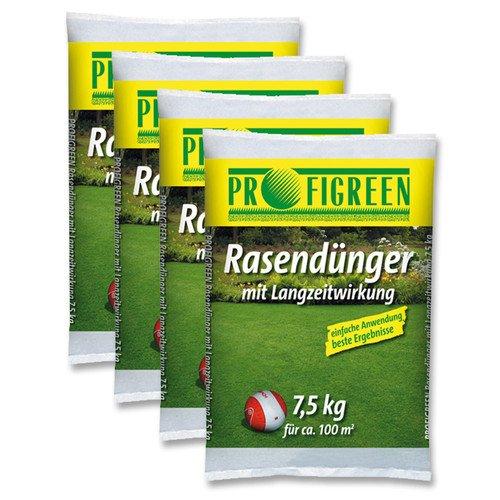 Rasendünger Langzeitwirkung 30 kg (4x7,5kg) Unkrautvernichter Moosvernichter für 19,99€ [eBay]