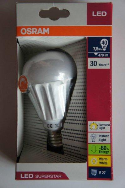 OSRAM LED SUPERSTAR CLASSIC A 40 ADVANCED 7,5W E27 dimmbar @ Kaufland [offline, Rostock - lokal?]