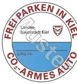 [Kiel] (fast) kostenloses Parken (1,66 € / Jahr) in der Innenstadt bei max. 120 g/km CO2- Ausstoß
