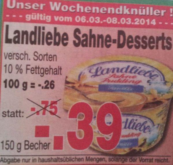 [Kaufpark] Landliebe Sahne-Desserts versch. Sorten für 0,39 €