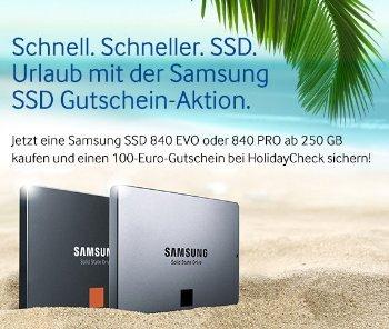 @Amazon Samsung SSD Reisegutscheinaktion (100Euro Holidaycheck)