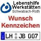 2 Stück Kfz Kennzeichen / 24h Service / Behindertenwerkstatt / 13,48 Euro