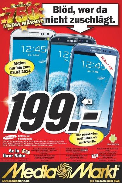 [Lokal München?] Galaxy S3 i9300 16GB für 199,- EUR bei Media Markt