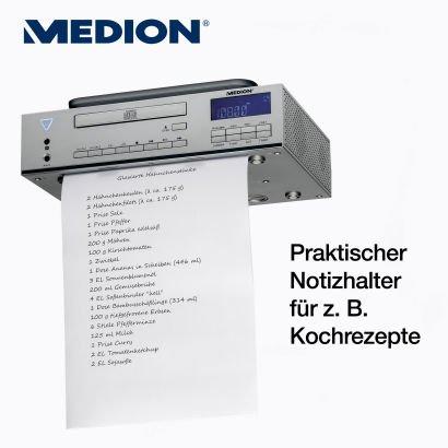 STEREO CD-UNTERBAURADIO MEDION® LIFE® E69644 (MD 83963) für 19 EUR bei ALDI Ritterhude/Ihlpohl (bei Bremen) (LOKAL)