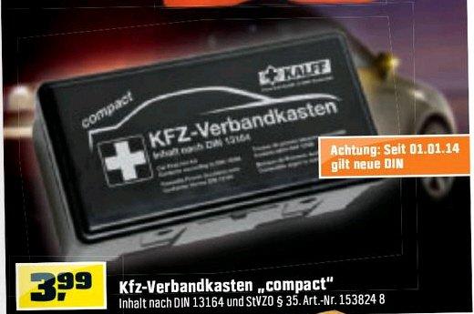 OBI - KFZ-Verbandkasten - 3,99€