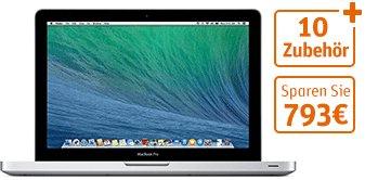 """[Gravis] MacBook Pro 13"""" mit u.A. Office 2013, Paraells, Tasche, u.v.m."""