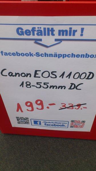 Canon EOS 1100D inkl. 18-55mm KIT (Media Markt Ulm)